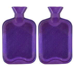 Beldray COMBO-3386 2 Litre Ribbed Hot Water Bottle, Set of 2, Purple Thumbnail 1