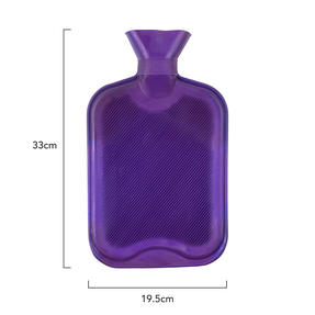 Beldray COMBO-3386 2 Litre Ribbed Hot Water Bottle, Set of 2, Purple Thumbnail 3