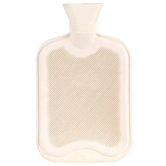 Beldray 2 Litre Ribbed Hot Water Bottle, Set of 2, Cream Thumbnail 3