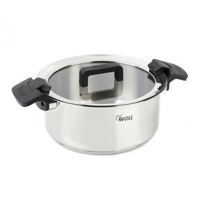 Woll COMBO-3390 Casserole Stock Pots with Glass Lids, 24 cm, Set of 2, Stainless Steel Thumbnail 3