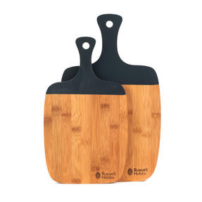 Russell Hobbs COMBO-3391 Bamboo Paddle Style Chopping Boards, Set of 4, 33/38 cm Thumbnail 2