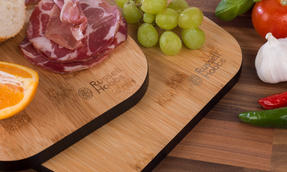 Russell Hobbs COMBO-3391 Bamboo Paddle Style Chopping Boards, Set of 4, 33/38 cm Thumbnail 5