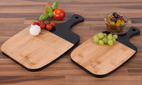 Russell Hobbs COMBO-3391 Bamboo Paddle Style Chopping Boards, Set of 4, 33/38 cm Thumbnail 8