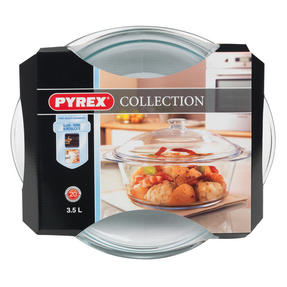 Pyrex 556A000T443 Round Casserole Dish With Lid, 3.5 L, Clear Glass, 20 Year Guarantee Thumbnail 4
