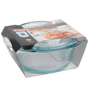 Pyrex 556A000T443 Round Casserole Dish With Lid, 3.5 L, Clear Glass, 20 Year Guarantee Thumbnail 5