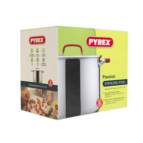 Pyrex P500734 Passion Stockpot With Lid, 24 cm, 7.8 L, Stainless Steel Thumbnail 2