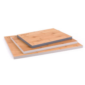 Salter Three Piece Bamboo Chopping Board Set, Coloured Rims, Five Year Guarantee Thumbnail 8