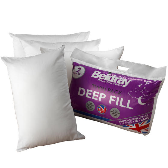 Beldray COMBO-3373 Deep Fill Pillow, Pack of 4, White