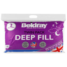 Beldray COMBO-3373 Deep Fill Pillow, Pack of 4, White Thumbnail 5