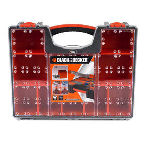 Black + Decker BDST170605 Eight Compartment Pro Organiser, 7.2 L, 42.2 cm x 33.5 cm x 10.6 cm Thumbnail 2