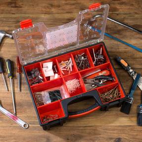 Black + Decker BDST170605 Eight Compartment Pro Organiser, 7.2 L, 42.2 cm x 33.5 cm x 10.6 cm Thumbnail 3