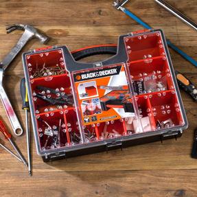 Black + Decker BDST170605 Eight Compartment Pro Organiser, 7.2 L, 42.2 cm x 33.5 cm x 10.6 cm Thumbnail 4