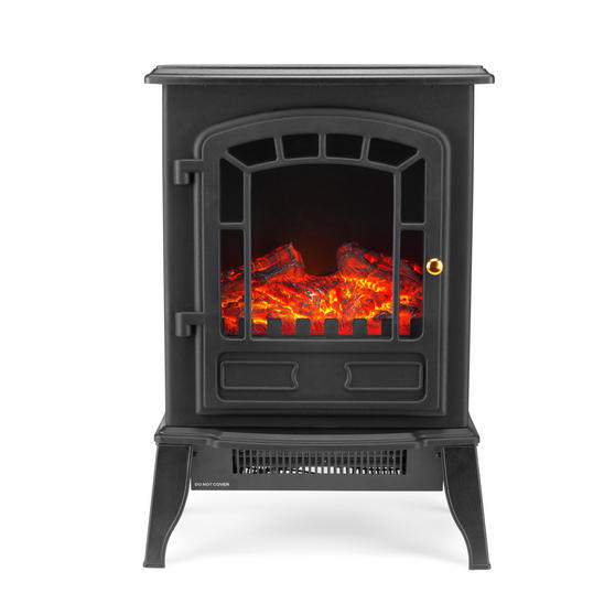 Beldray Teresina Electric Portable LED Fire Stove, 1800 W, Black Thumbnail 1