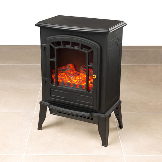 Beldray Teresina Electric Portable LED Fire Stove, 1800 W, Black Thumbnail 2