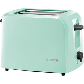 Bosch TAT3A012GB Country 2 Toaster, 980 W, Mint Green Thumbnail 1