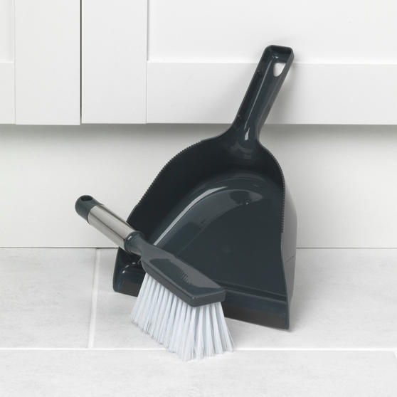 Beldray Scrub Brush, Chenille Duster, Squeegee and Dustpan with Brush Set, 5 Piece Thumbnail 7
