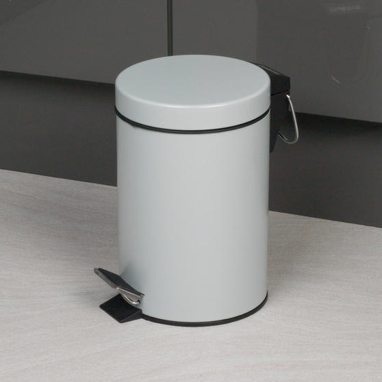Beldray Dustpan and Brush with Stainless Steel Round Pedal Waste Bin Thumbnail 4