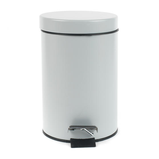 Beldray Dustpan and Brush with Stainless Steel Round Pedal Waste Bin Thumbnail 6