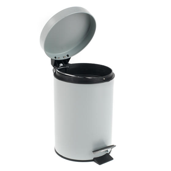Beldray Dustpan and Brush with Stainless Steel Round Pedal Waste Bin Thumbnail 7