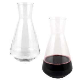 RCR COMBO-3428 Armonia Crystal Wine Carafe Decanter Water Serving Jug, Set of 2, 1.8 Litre