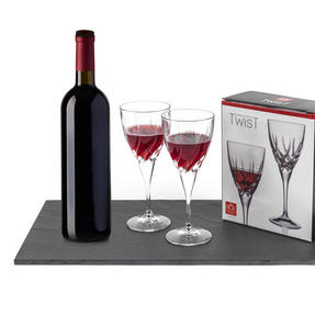 RCR COMBO-3429 Armonia Crystal Wine 1.8 Litre Carafe with Two Twist Wine Glasses Thumbnail 6