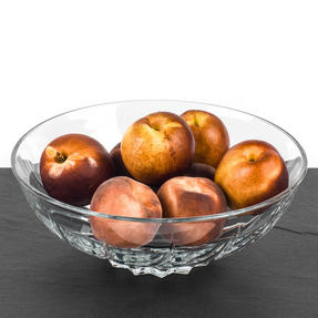 RCR COMBO-3430 Twist Luxion Crystal Glass Decorative Centrepiece Fruit Bowl, Set of 2, 24 cm Thumbnail 2