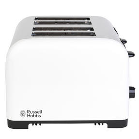 Russell Hobbs COMBO-3388 Oslo Traditional Kettle and Four Slice Toaster Breakfast Set, White Thumbnail 2
