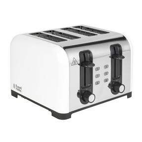 Russell Hobbs COMBO-3388 Oslo Traditional Kettle and Four Slice Toaster Breakfast Set, White Thumbnail 5