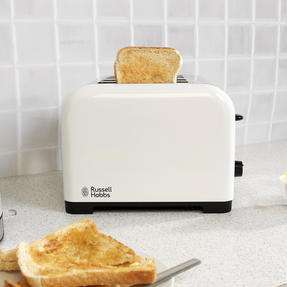 Russell Hobbs COMBO-3388 Oslo Traditional Kettle and Four Slice Toaster Breakfast Set, White Thumbnail 7