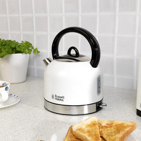 Russell Hobbs COMBO-3388 Oslo Traditional Kettle and Four Slice Toaster Breakfast Set, White Thumbnail 8