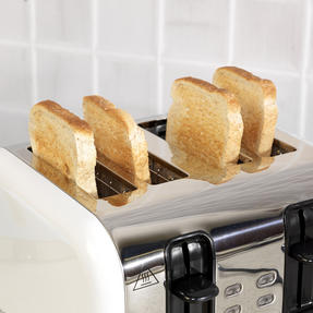 Russell Hobbs COMBO-3388 Oslo Traditional Kettle and Four Slice Toaster Breakfast Set, White Thumbnail 9