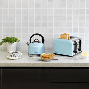 Russell Hobbs COMBO-3389 Oslo Traditional Kettle and Four Slice Toaster Breakfast Set, Blue Thumbnail 6