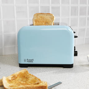 Russell Hobbs COMBO-3389 Oslo Traditional Kettle and Four Slice Toaster Breakfast Set, Blue Thumbnail 7