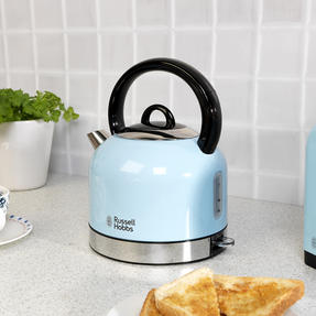 Russell Hobbs COMBO-3389 Oslo Traditional Kettle and Four Slice Toaster Breakfast Set, Blue Thumbnail 8