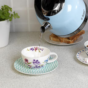 Russell Hobbs COMBO-3389 Oslo Traditional Kettle and Four Slice Toaster Breakfast Set, Blue Thumbnail 10