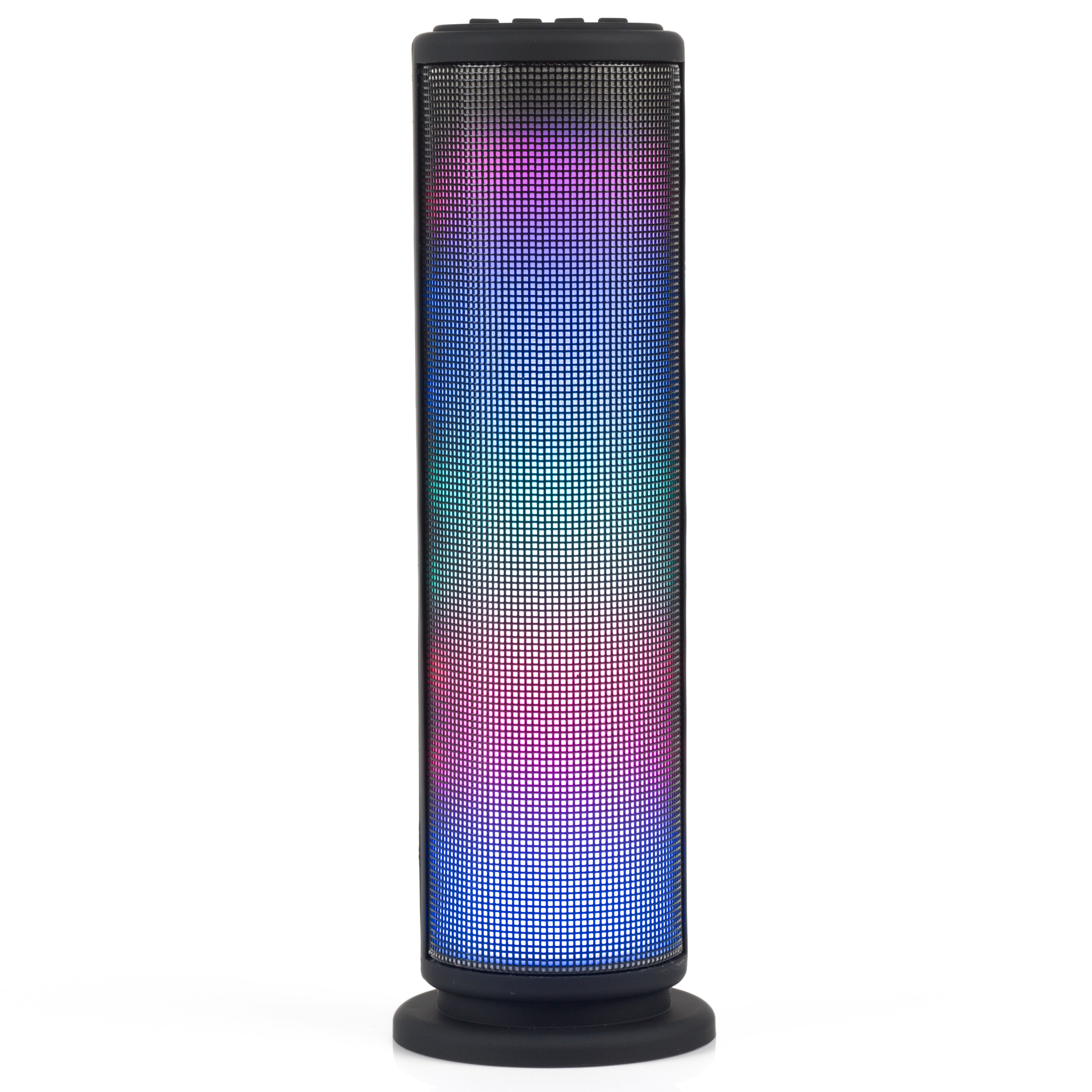 Intempo EE2928BLKSTK LED Light Tower Speaker, AUX, Bluetooth for iPhone,  iPad, Samsung Galaxy, Android and other Smart USB Devices, 3 W, Black