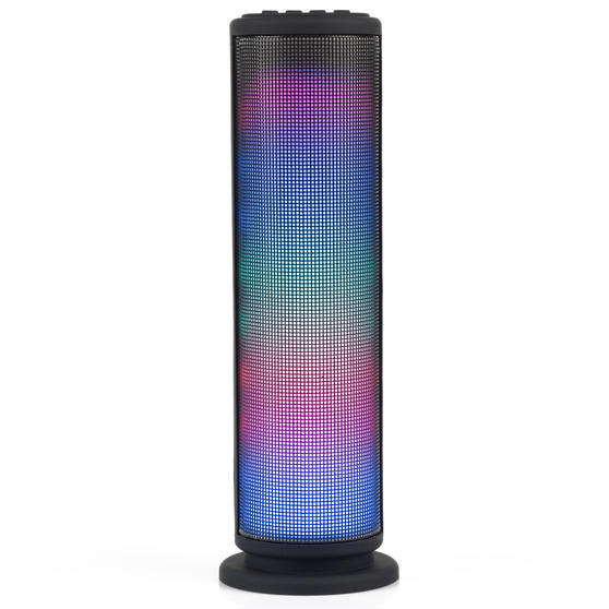 Intempo LED Light Tower Speaker, AUX, Bluetooth, 3 W, Black