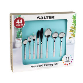 Salter Knutsford 44 Piece Cutlery Set, Stainless Steel, 15 Year Guarantee Thumbnail 4