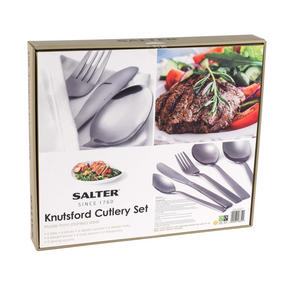 Salter Knutsford 44 Piece Cutlery Set, Stainless Steel, 15 Year Guarantee Thumbnail 5