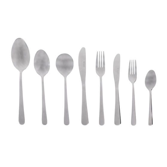 Russell Hobbs RH00360 Madrid 44 Piece Cutlery Set, Stainless Steel, 15 Year Guarantee