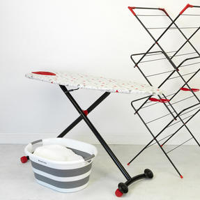 Russell Hobbs LA053992 Collapsible Ironing Board with Wheels, 135 x 45 cm, Triangle Print Thumbnail 2
