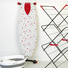 Russell Hobbs LA053992 Collapsible Ironing Board with Wheels, 135 x 45 cm, Triangle Print Thumbnail 3