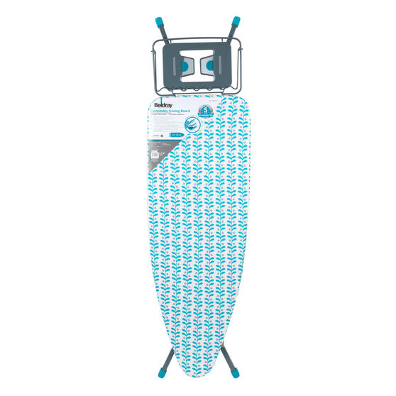 Beldray Collapsible Ironing Board, 126 x 45 cm, Teal Thumbnail 3