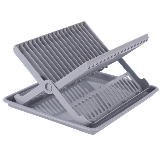 Beldray Folding Dish Drainer with Tray, 37 x 33 x 21 cm, Grey