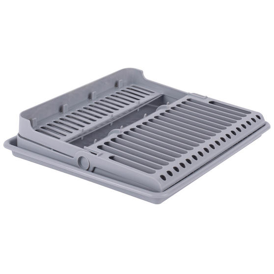 Beldray Folding Dish Drainer with Tray, 37 x 33 x 21 cm, Grey Thumbnail 2