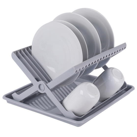 Beldray Folding Dish Drainer with Tray, 37 x 33 x 21 cm, Grey Thumbnail 3