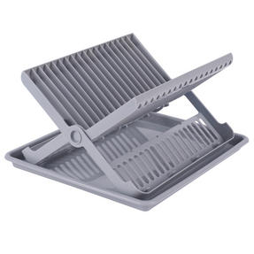 Beldray LA057334 Folding Dish Drainer with Tray, 37 x 33 x 21 cm, Grey