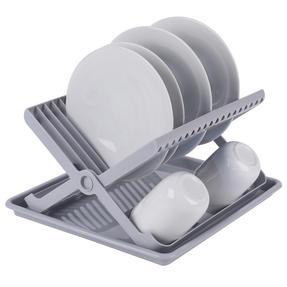 Beldray LA057334 Folding Dish Drainer with Tray, 37 x 33 x 21 cm, Grey Thumbnail 3
