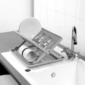 Beldray LA057334 Folding Dish Drainer with Tray, 37 x 33 x 21 cm, Grey Thumbnail 4