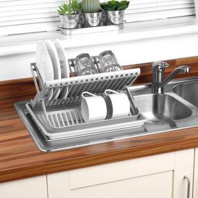 Beldray LA057334 Folding Dish Drainer with Tray, 37 x 33 x 21 cm, Grey Thumbnail 5